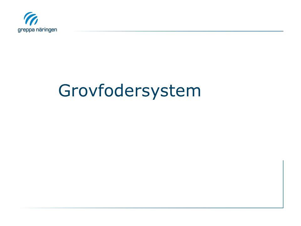 Grovfodersystem KRAV o REK: Gå igenom och vid behov föreslå ändring i gårdens grovfodersystem (ålder på vallarna,