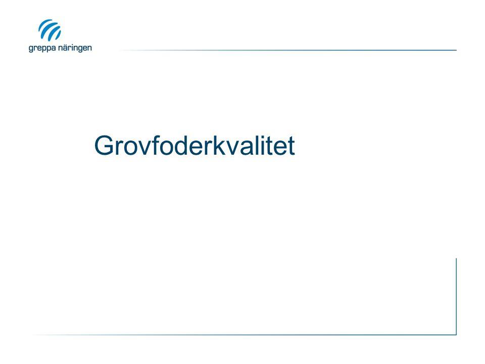Grovfoderkvalitet KRAV o REK: Diskutera den målbeskrivning för grovfoderkvaliteten med önskade halter (energi,