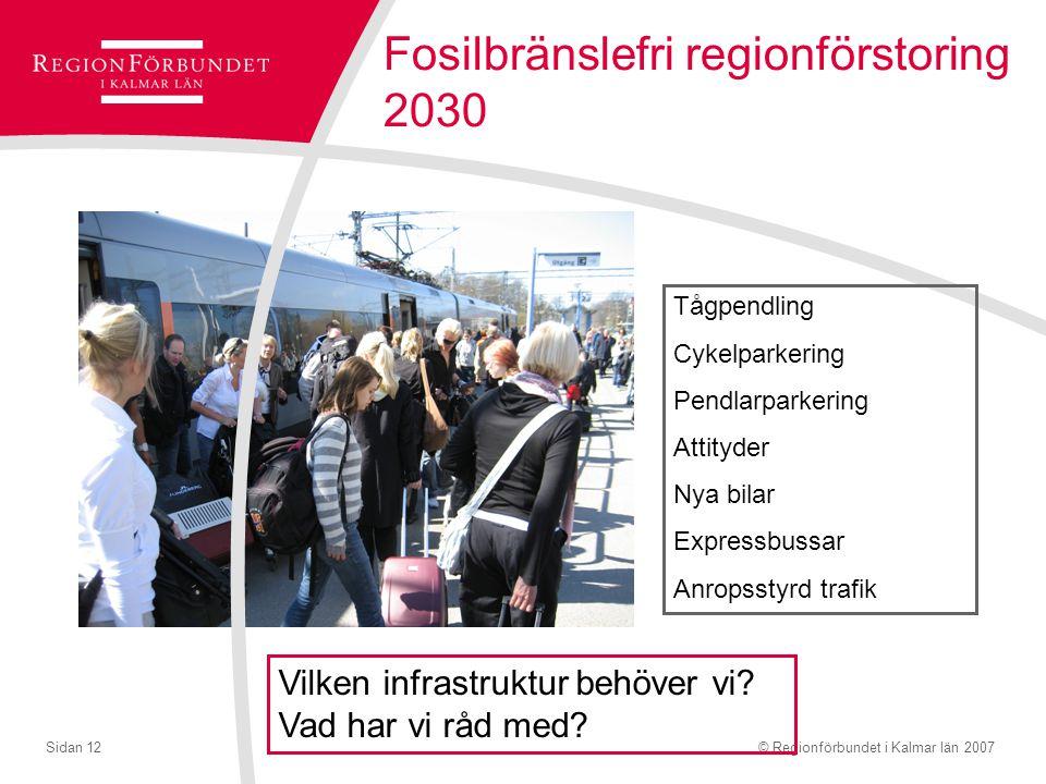 Fosilbränslefri regionförstoring 2030