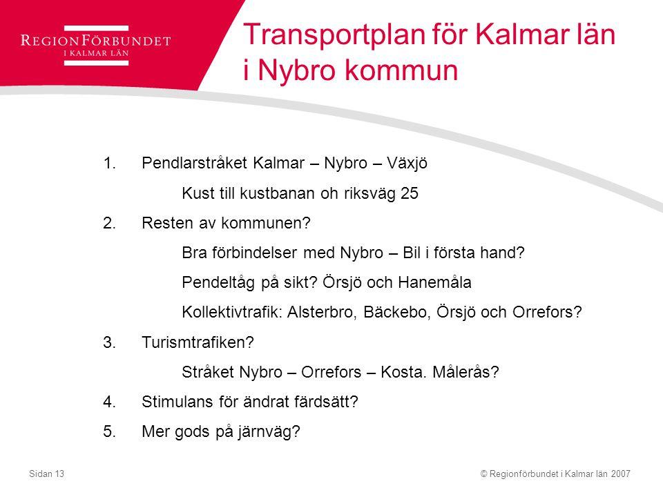 Transportplan för Kalmar län i Nybro kommun