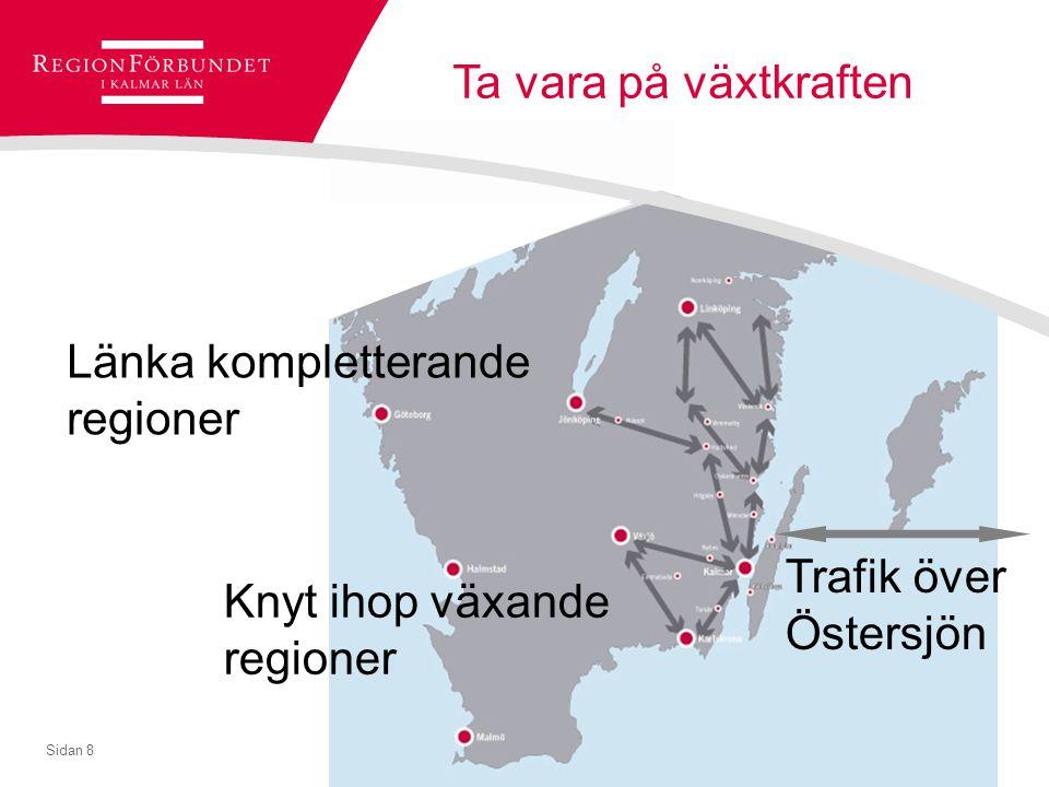 Länka kompletterande regioner