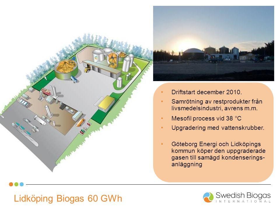 Lidköping Biogas 60 GWh Driftstart december 2010.