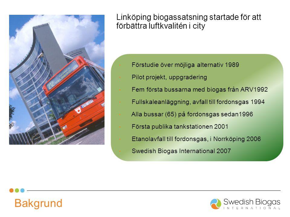Linköping biogassatsning startade för att förbättra luftkvalitén i city