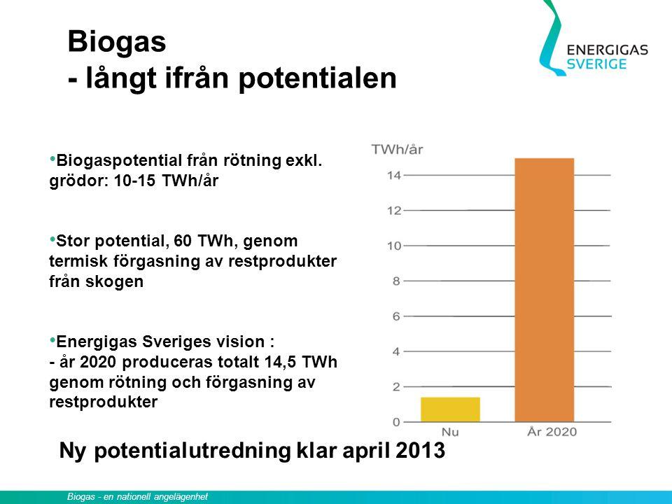 Biogas - långt ifrån potentialen