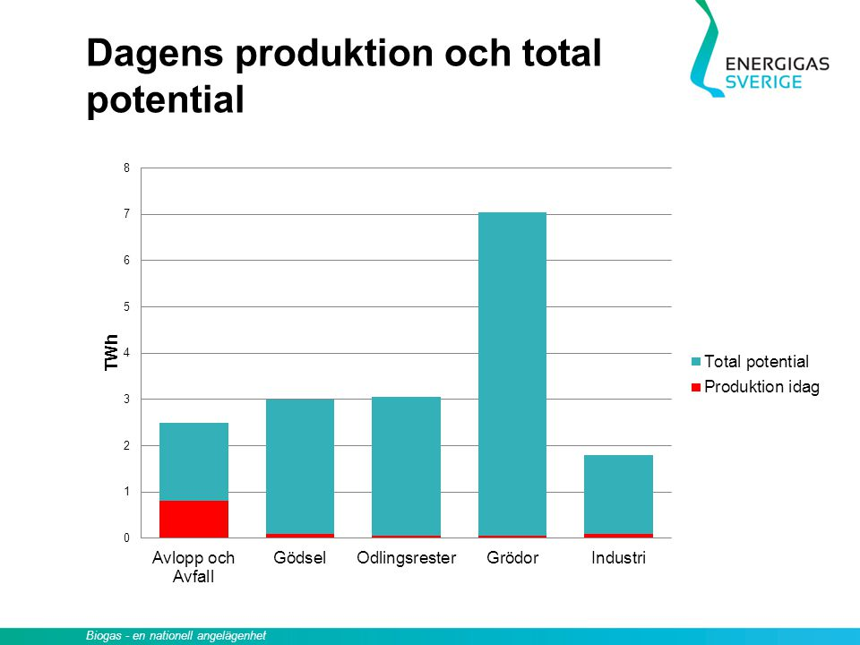 Dagens produktion och total potential