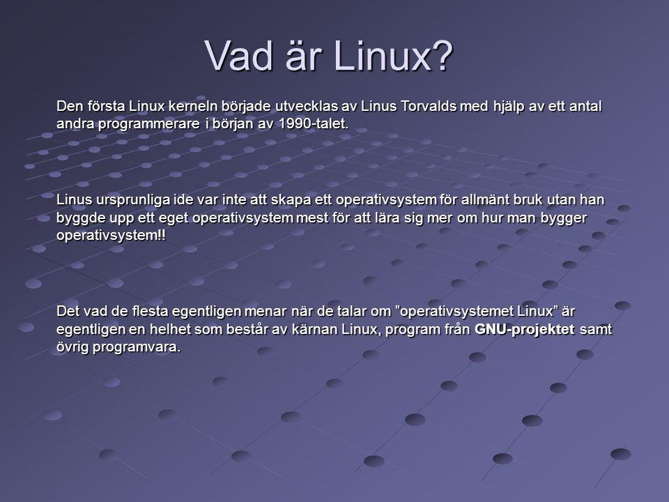 Vad är Linux Den första Linux kerneln började utvecklas av Linus Torvalds med hjälp av ett antal andra programmerare i början av 1990-talet.