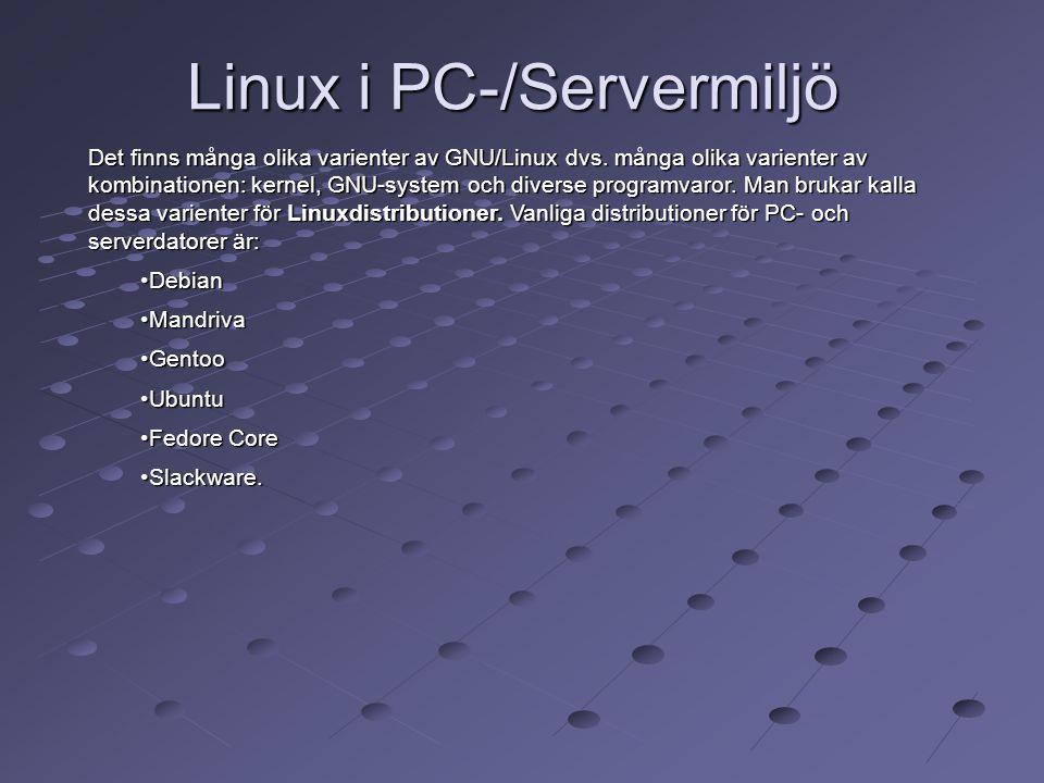 Linux i PC-/Servermiljö