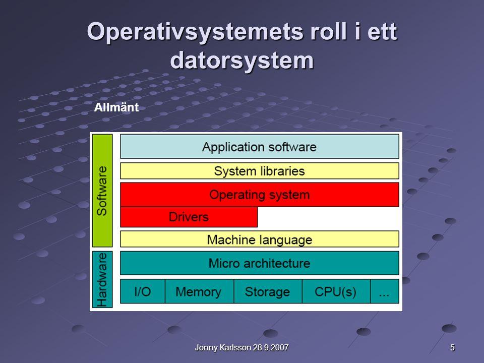 Operativsystemets roll i ett datorsystem