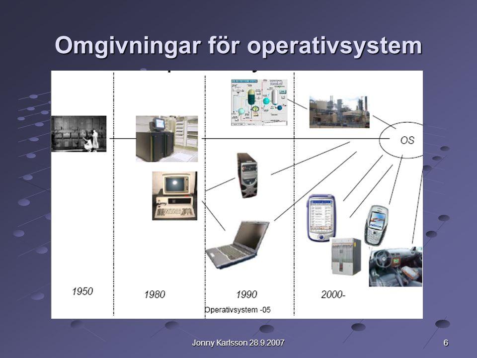 Omgivningar för operativsystem