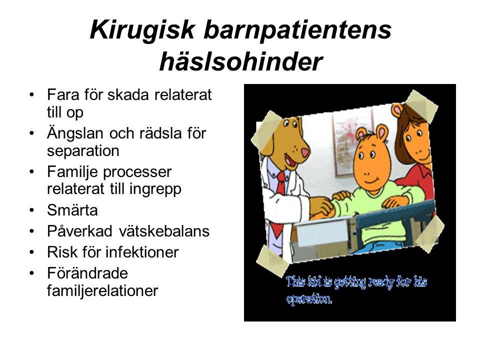 Kirugisk barnpatientens häslsohinder