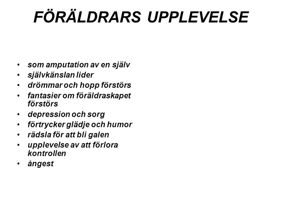 FÖRÄLDRARS UPPLEVELSE