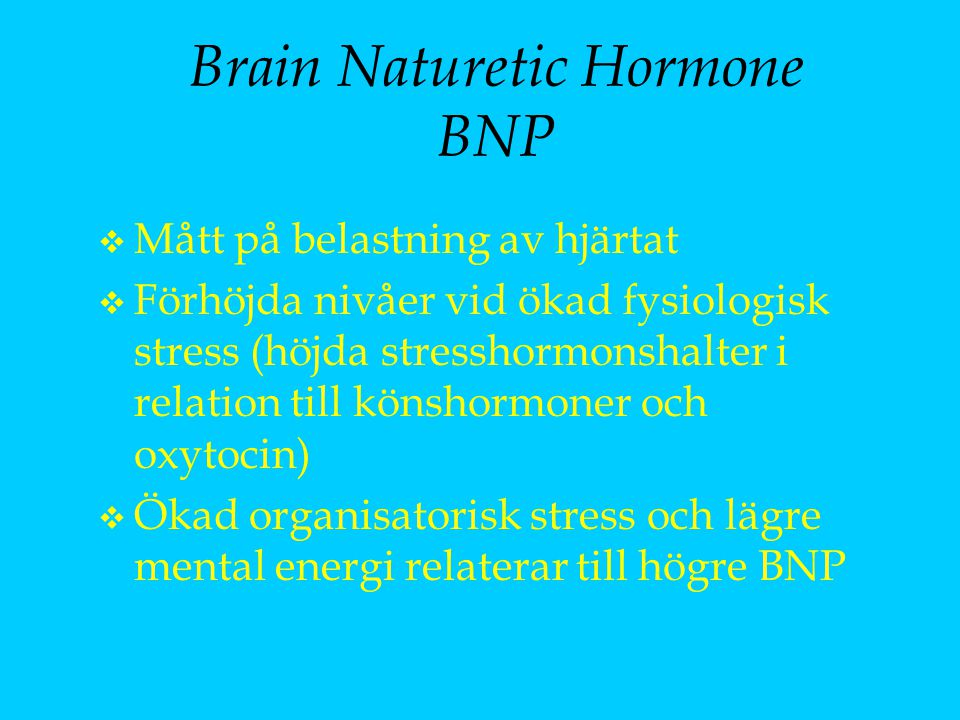 Brain Naturetic Hormone BNP