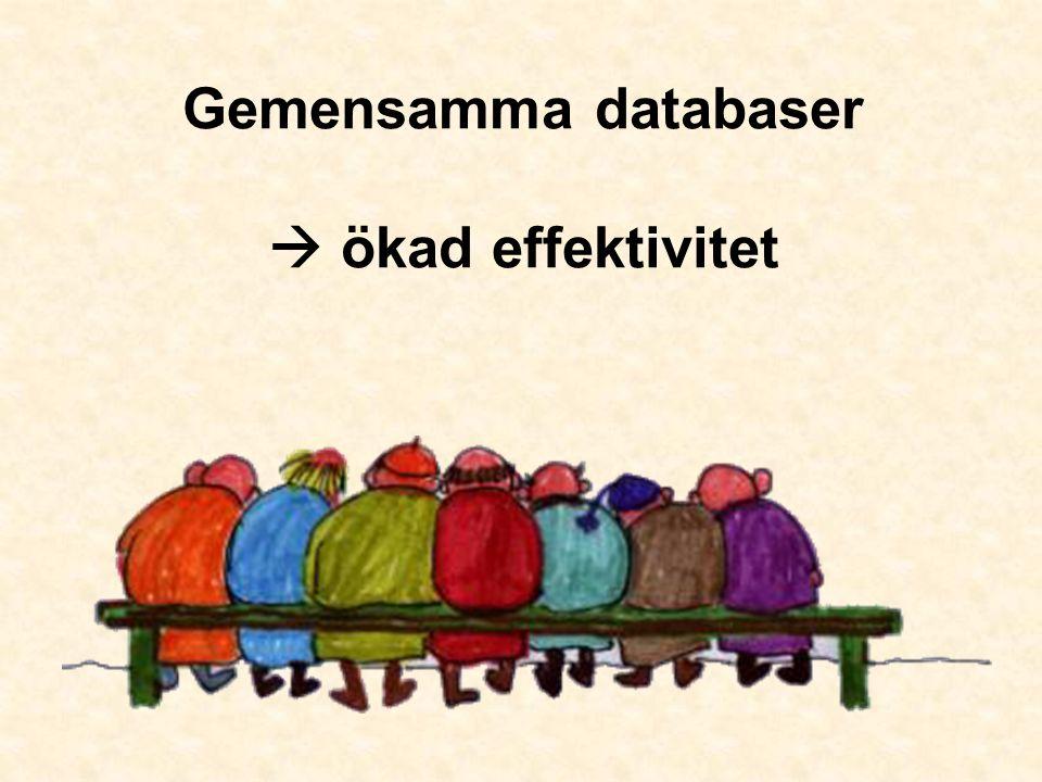Gemensamma databaser  ökad effektivitet