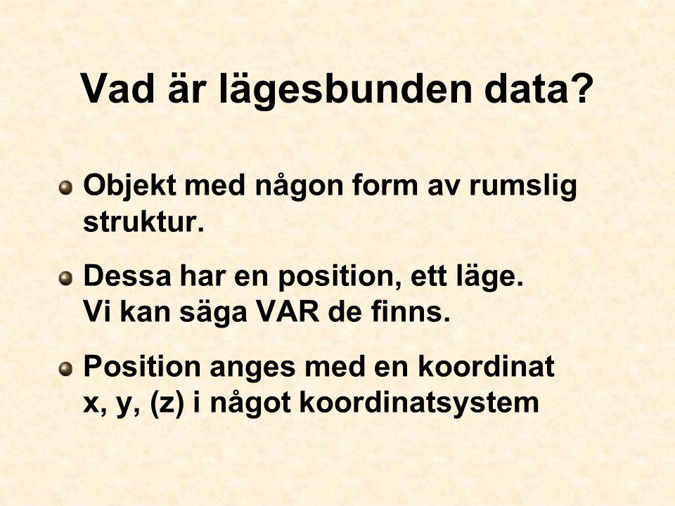 Vad är lägesbunden data