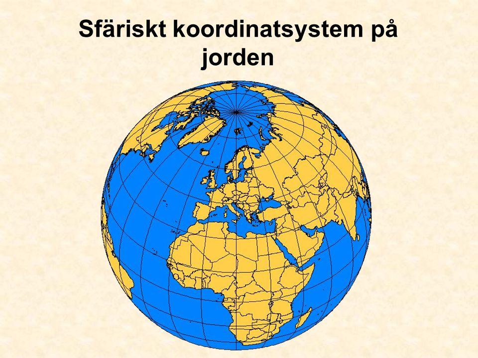 Sfäriskt koordinatsystem på jorden