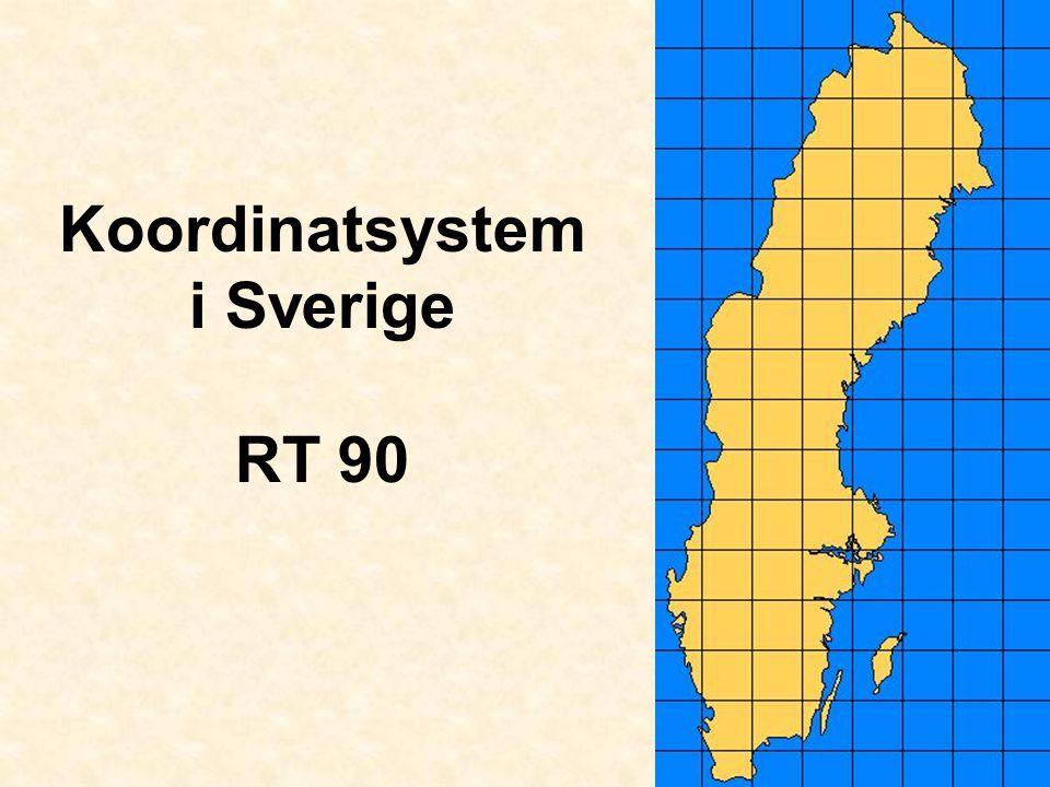 Koordinatsystem i Sverige RT 90