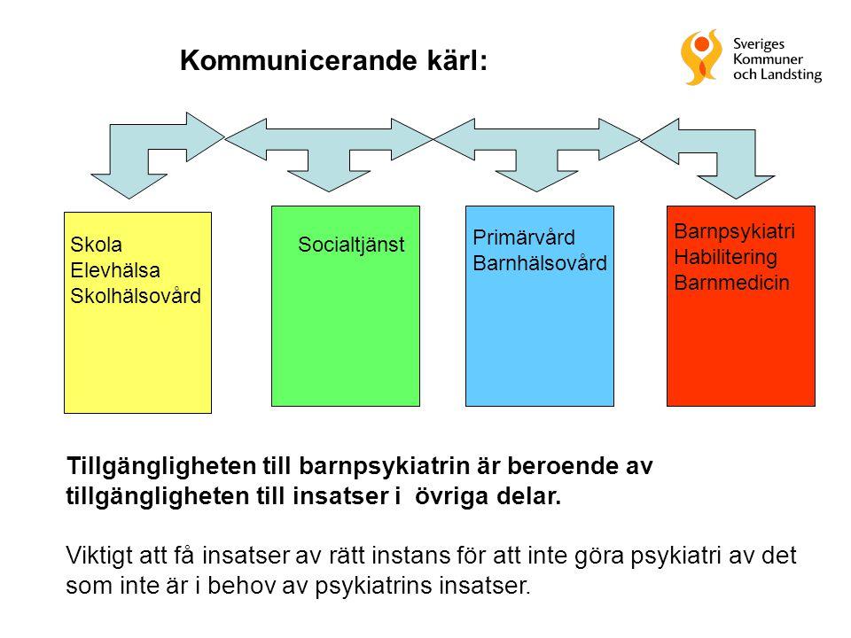 Kommunicerande kärl: Barnpsykiatri. Habilitering. Barnmedicin. Primärvård. Barnhälsovård. Skola.