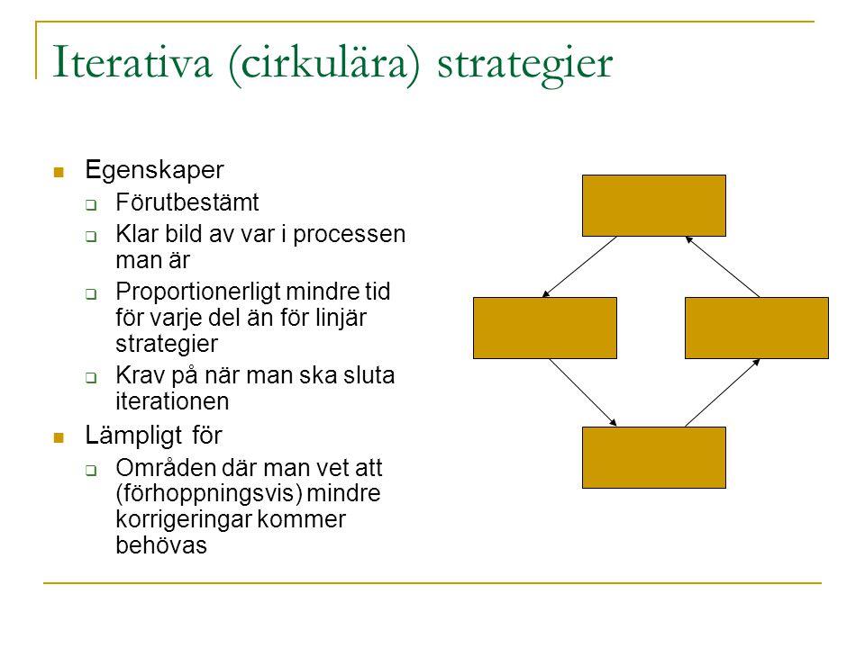 Iterativa (cirkulära) strategier