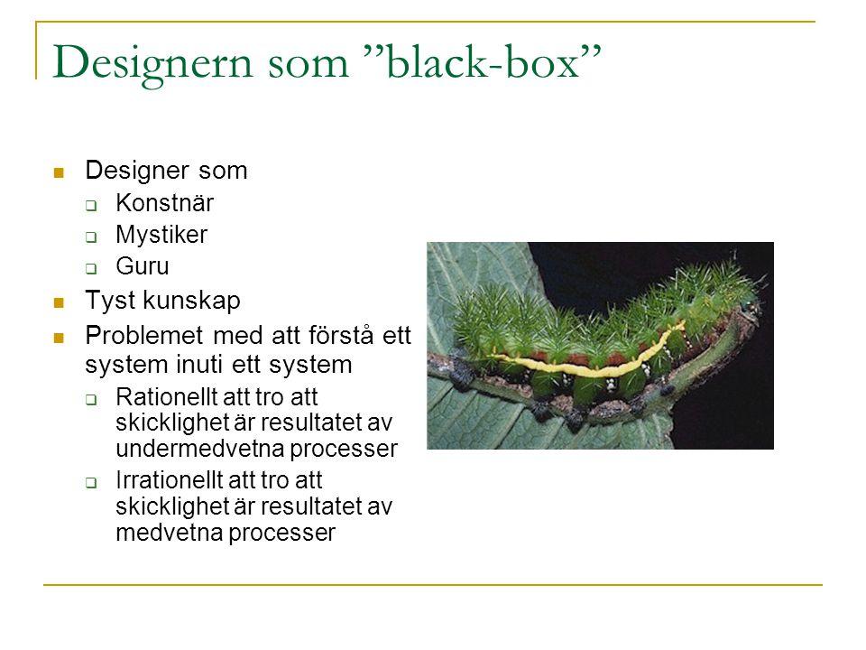Designern som black-box