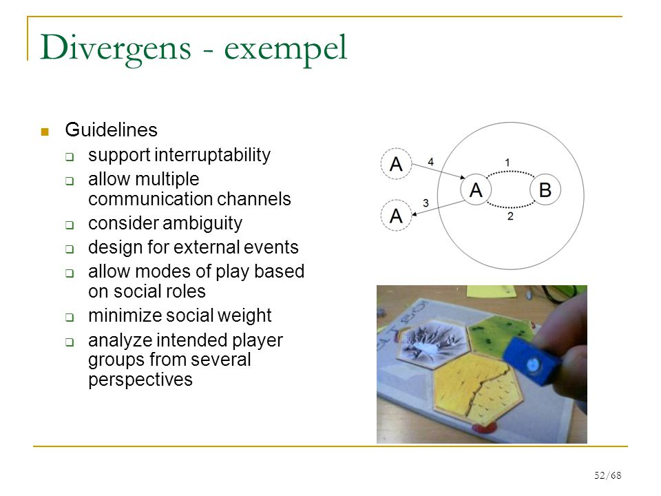 Divergens - exempel Guidelines support interruptability