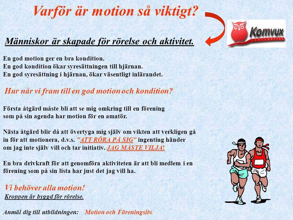 fysisk aktivitet viktigt för hälsan