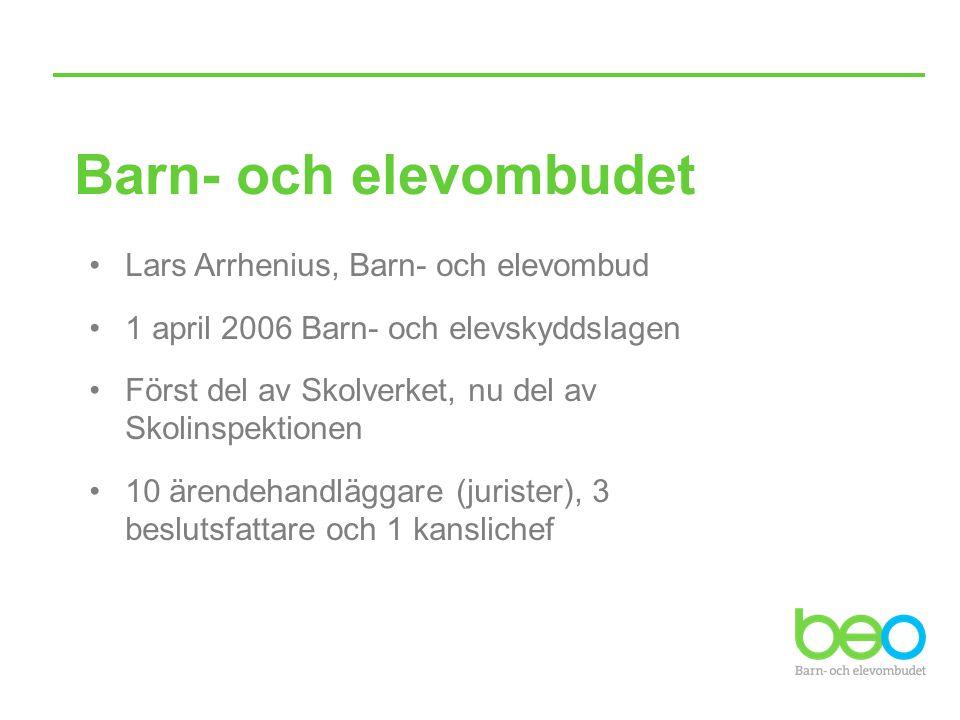Barn- och elevombudet Lars Arrhenius, Barn- och elevombud