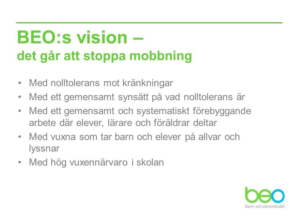 BEO:s vision – det går att stoppa mobbning