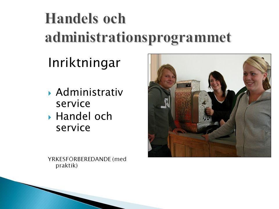 Handels och administrationsprogrammet