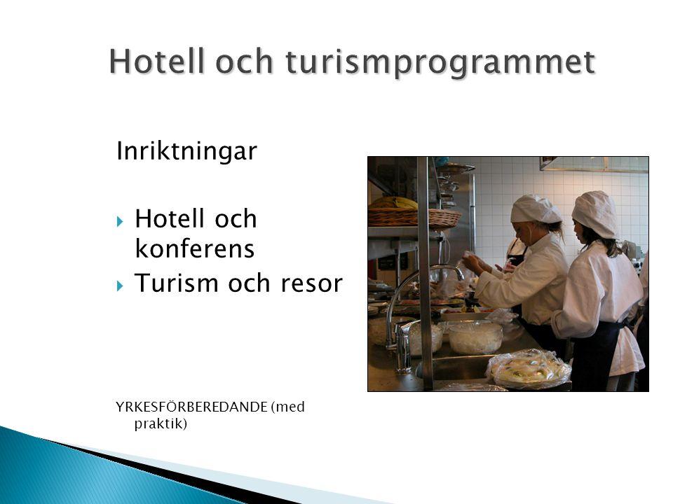 Hotell och turismprogrammet