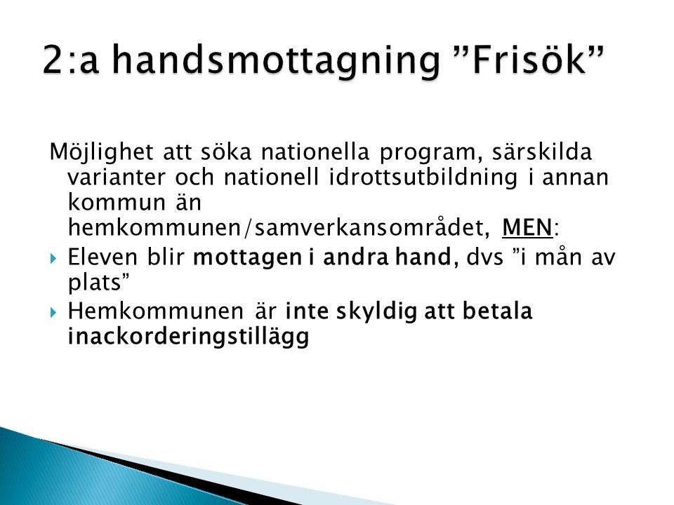 2:a handsmottagning Frisök