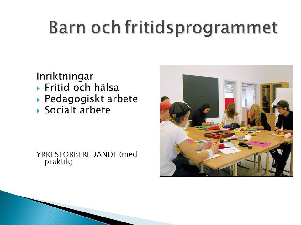 Barn och fritidsprogrammet
