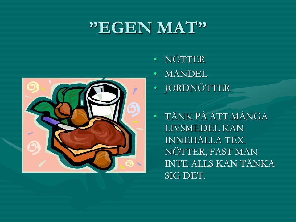 EGEN MAT NÖTTER MANDEL JORDNÖTTER
