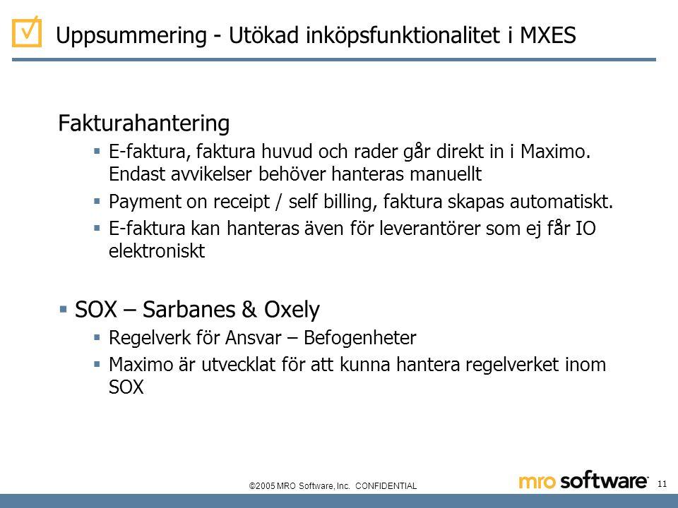Uppsummering - Utökad inköpsfunktionalitet i MXES