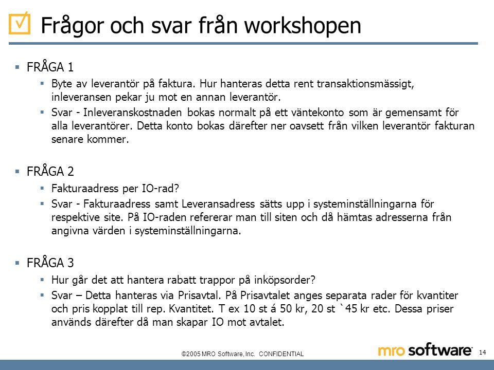 Frågor och svar från workshopen