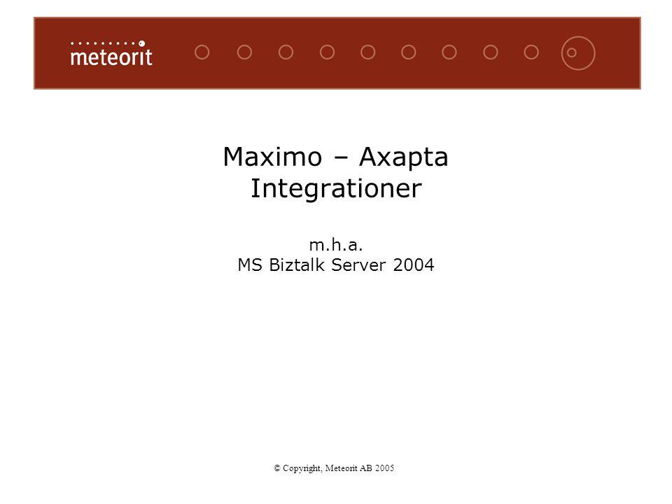 Maximo – Axapta Integrationer m.h.a. MS Biztalk Server 2004