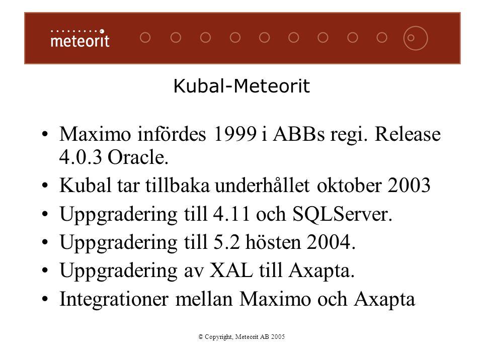 © Copyright, Meteorit AB 2005