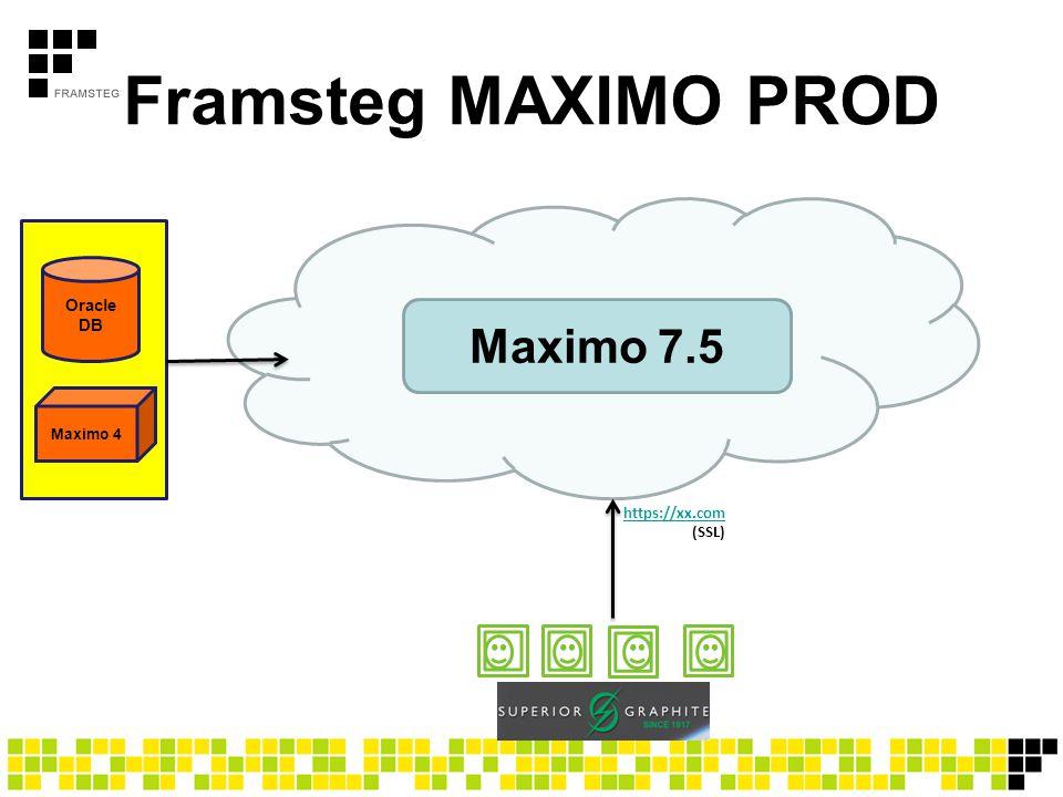 Framsteg MAXIMO PROD Maximo 7.5 Oracle DB https://xx.com (SSL)