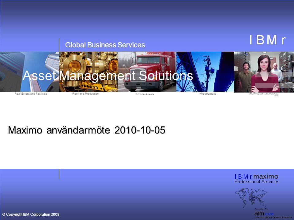 Maximo användarmöte 2010-10-05