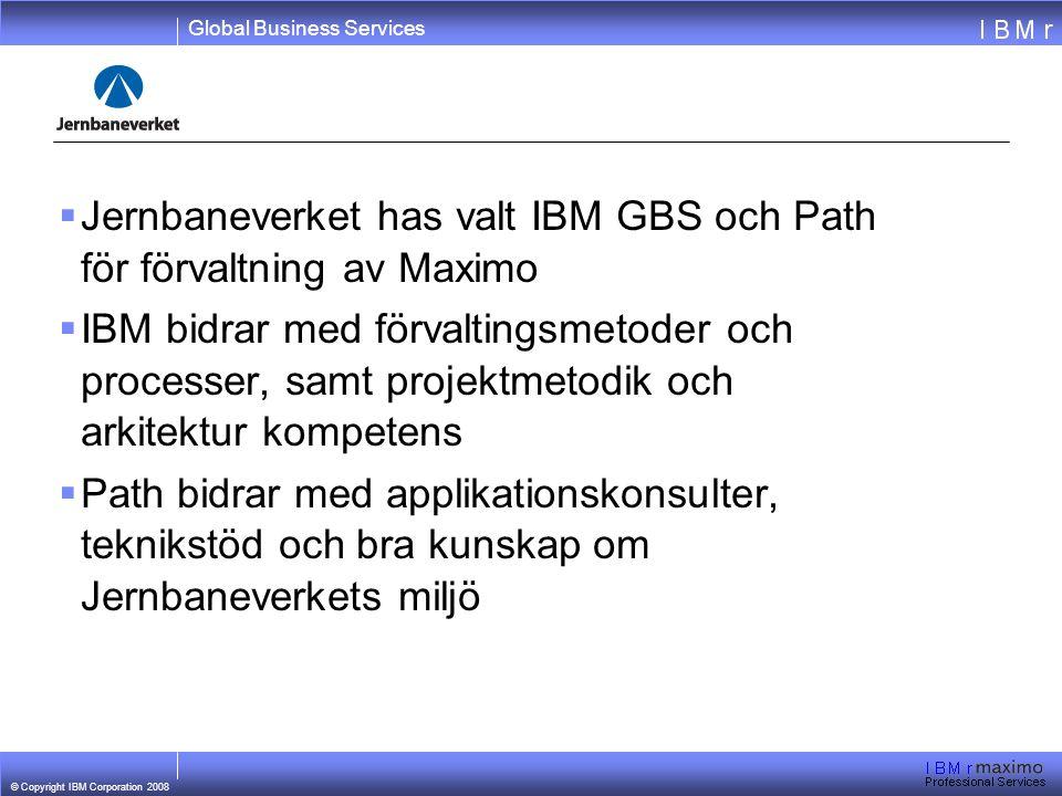 Jernbaneverket has valt IBM GBS och Path för förvaltning av Maximo