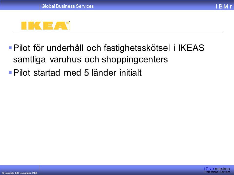 Pilot för underhåll och fastighetsskötsel i IKEAS samtliga varuhus och shoppingcenters