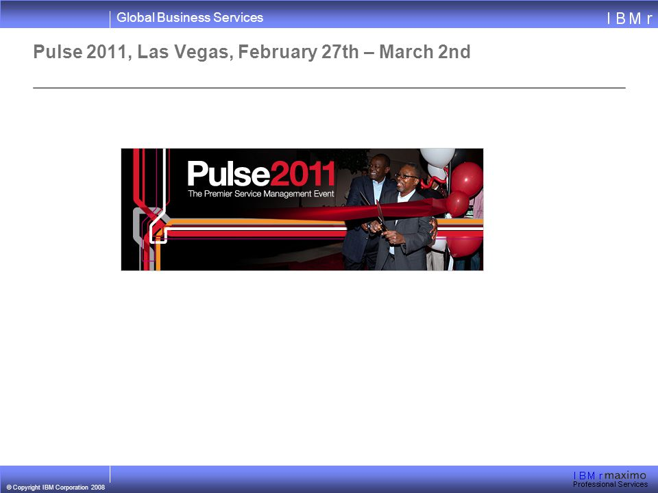 Pulse 2011, Las Vegas, February 27th – March 2nd