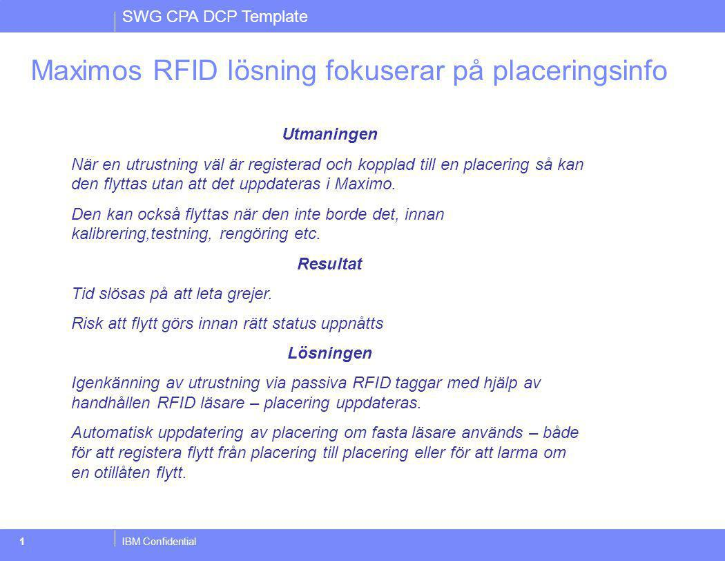 Maximos RFID lösning fokuserar på placeringsinfo