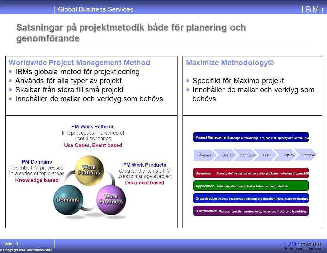 Satsningar på projektmetodik både för planering och genomförande