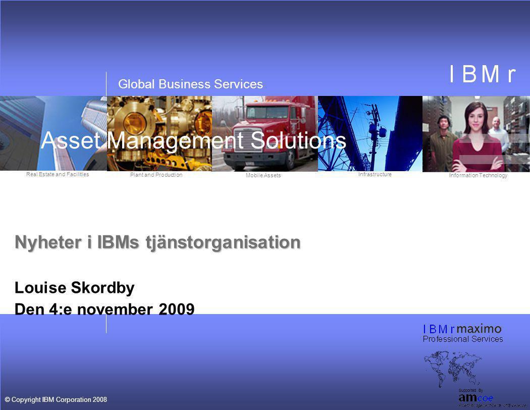 Nyheter i IBMs tjänstorganisation