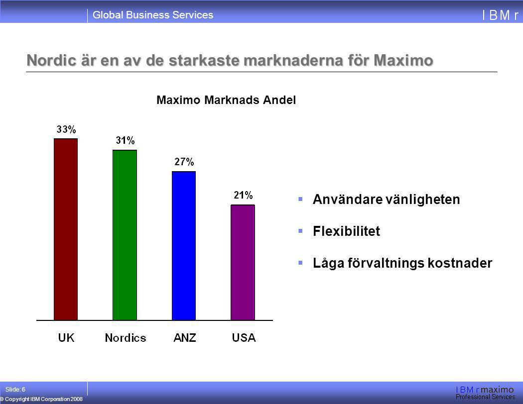 Nordic är en av de starkaste marknaderna för Maximo