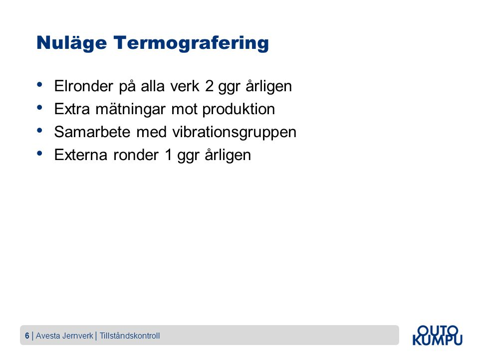 Nuläge Termografering