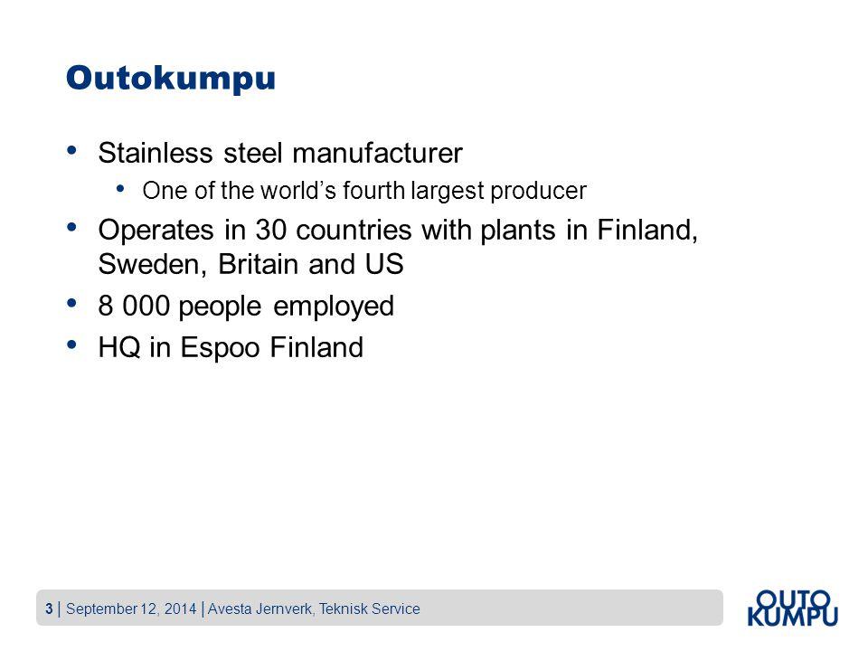 Outokumpu Stainless steel manufacturer