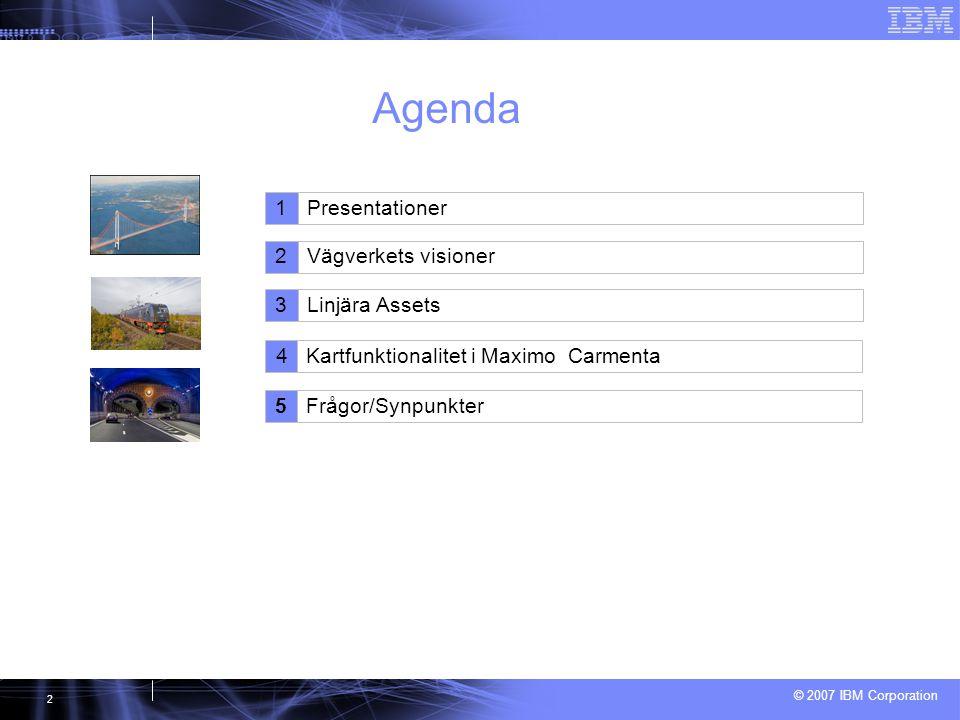 Agenda 1 Presentationer 2 2 Vägverkets visioner Vägverkets visioner 3