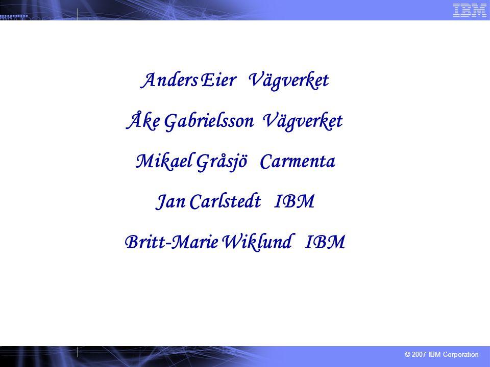 Åke Gabrielsson Vägverket Mikael Gråsjö Carmenta Jan Carlstedt IBM