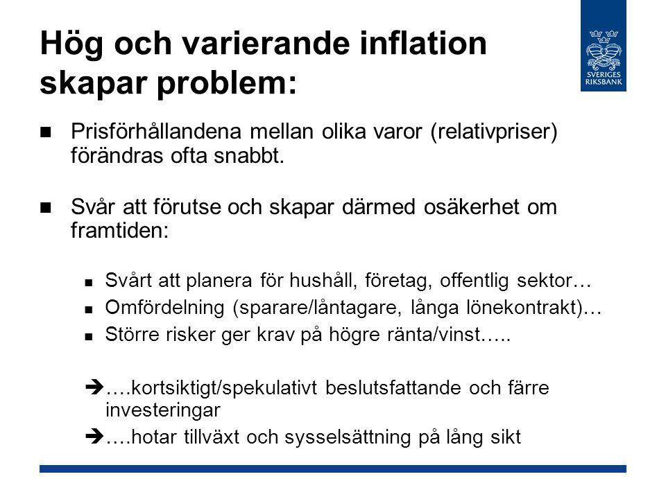 Hög och varierande inflation skapar problem: